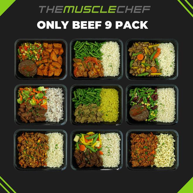 Droge Spiermassa ¨Combi Deal 8¨ (maaltijdpakket 9 Beef variaties)
