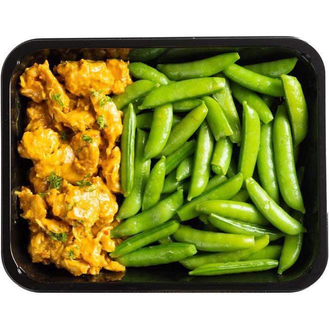 Bombay Curry kip - Sugarsnaps (v.a.€5,58)