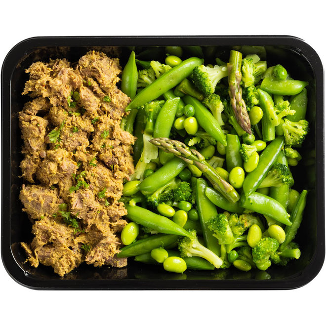 Rendang Beef-Groene Groenten  (v.a.€6,89)