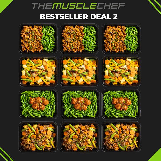 Afslank Bestseller Deal 2  (maaltijdpakket 12 maaltijden met 4 smaakvariaties)