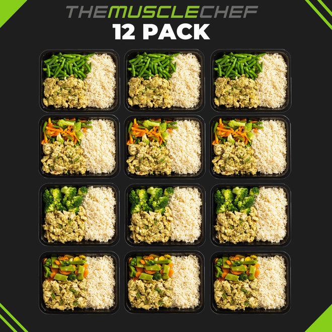 Droge Spiermassa Basics Combi Deal 4  (maaltijdpakket  12 maaltijden met 6 smaakvariaties)