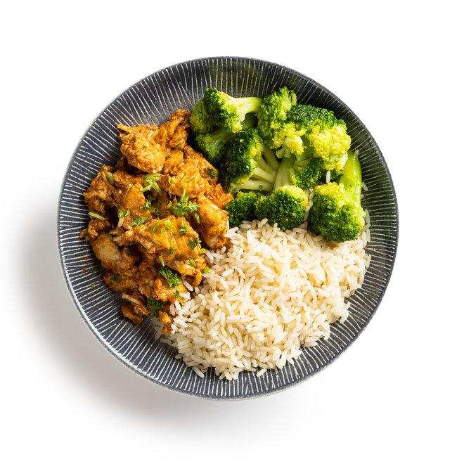 Secret Spice Chicken-Rijst-Broccoli (v.a.€6,17)