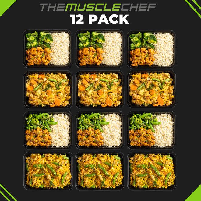 Spiermassa Bestseller Deal 1  (Maaltijd pakket van 12 maaltijden met 4 smaakvariaties)