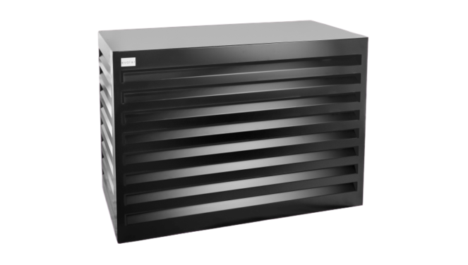 Evolar Evo-cover airco buitenunit omkasting - Zwart - Medium 800 X 1100 X 550 MM