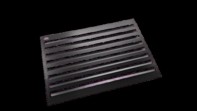 Evolar Backcover vrijstaand small zwart airco buitenunit omkasting 700 X 1000 MM