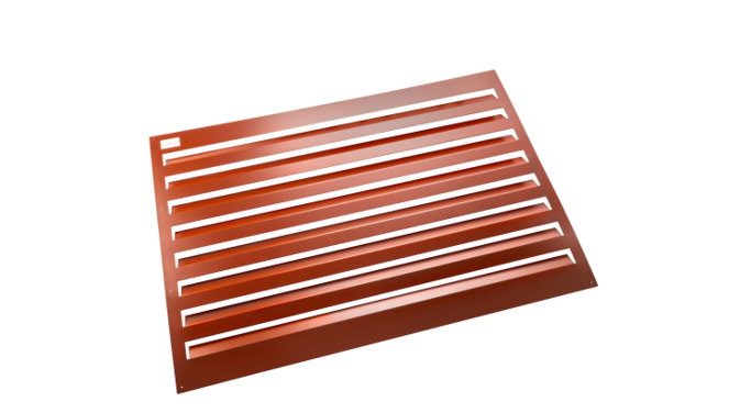 Evolar Backcover voor Airco Omkasting - Steenrood - Uitbreiding Large 1100 x 1200 MM