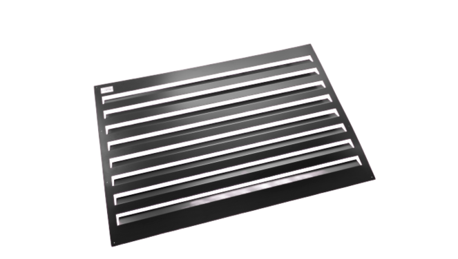 Evolar Backcover voor Airco Omkasting - Zwart- Uitbreiding Large 1100 x 1200 MM