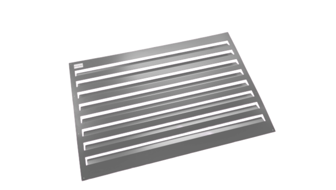 Evolar Backcover voor Airco Omkasting - Antraciet - Uitbreiding Large 1100 x 1200 MM