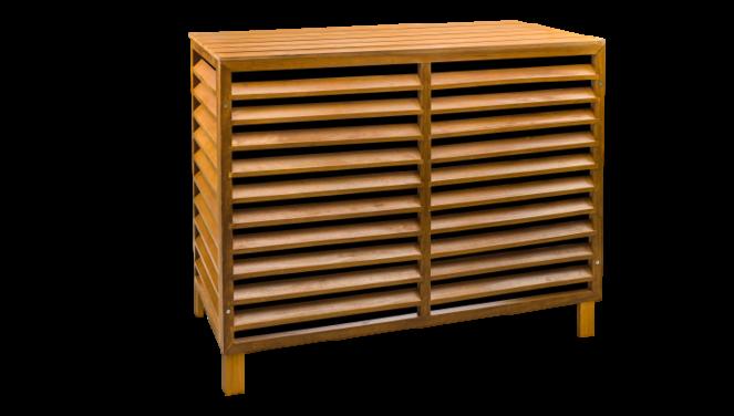 Evolar Evo-cover Airco Buitenunit Omkasting - Wood - Small 700 X 1000 X 500 MM