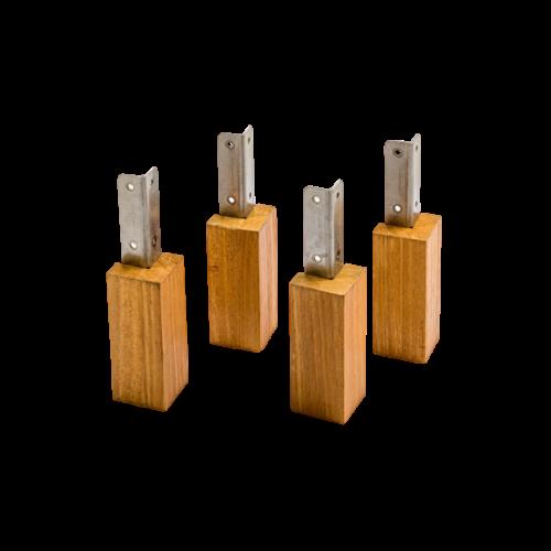 Evolar Evolar Evo-cover Wood Opstelvoetjes 10CM set 4 stuks voor airco buitenunit omkasting