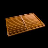 Evolar Backcover Wood vrijstaand small airco buitenunit omkasting 700 X 1000 MM