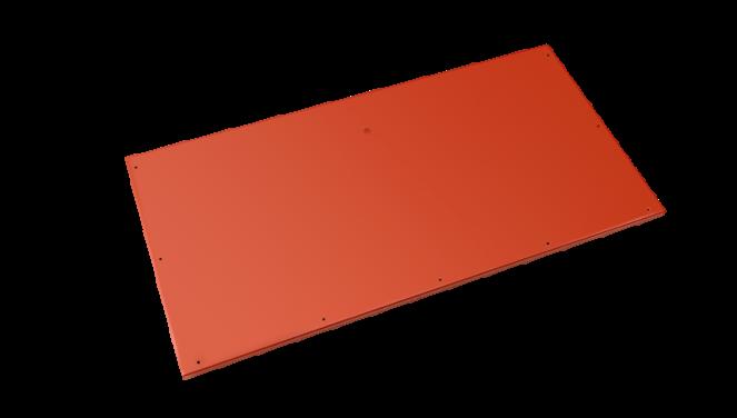 Evolar Bottom Panel voor Airco Omkasting - Steenrood - Uitbreiding Small 500 x 1000 MM