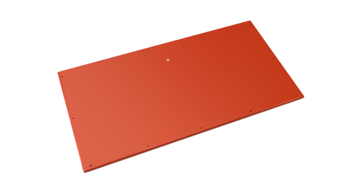 Evolar bottom panel medium steenrood airco buitenunit omkasting 550 X 1100 MM