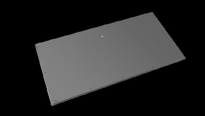 Evolar Bottom Panel voor Airco Omkasting - Antraciet - Uitbreiding Large 650 x 1200 MM