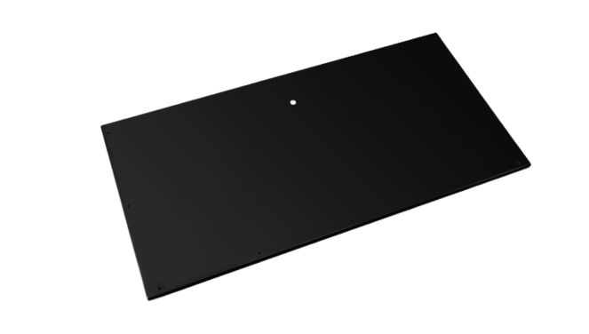 Evolar bottom panel XL zwart airco buitenunit omkasting 750 X 1700 MM