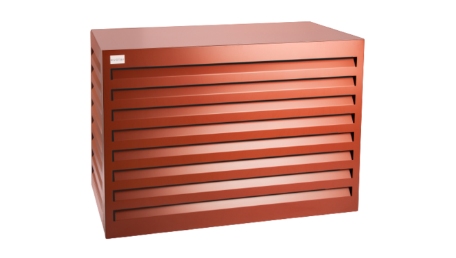 Evolar Evo-cover monster/demomodel steenrood airco buitenunit omkasting