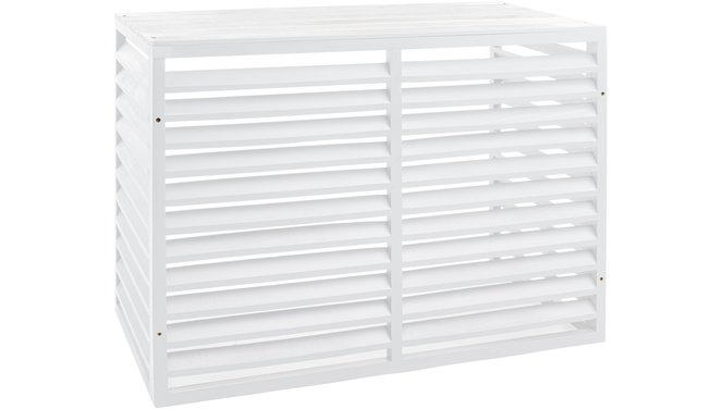 Evolar Evo-cover Wood small wit airco buitenunit omkasting 700 X 1000 X 500 MM