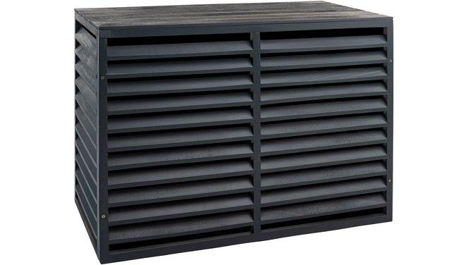 Evolar Evo-cover Wood XL antraciet airco buitenunit omkasting 1300 X 1700 X 750 MM
