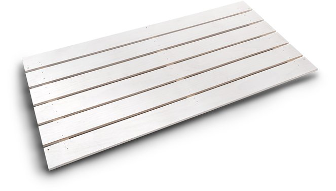 Evolar bottom panel Wood XL wit airco buitenunit omkasting 750 X 1700 MM