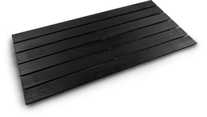 Evolar bottom panel Wood medium zwart airco buitenunit omkasting 550 X 1100 MM
