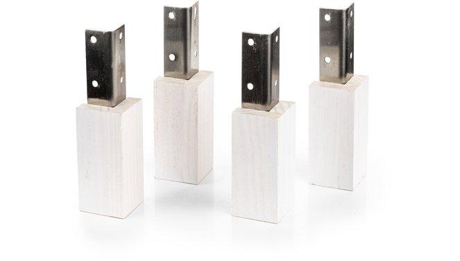 Evolar Evo-cover Wood wit Opstelvoetjes 10CM set 4 stuks voor airco buitenunit omkasting