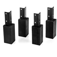 Evolar Evo-cover Wood zwart Opstelvoetjes 10CM set 4 stuks voor airco buitenunit omkasting