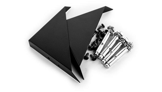 Evolar Evo-cover zwart bevestigingsset