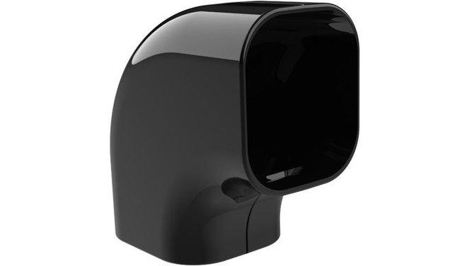 Evolar platte bocht 90° zwart 72x64mm