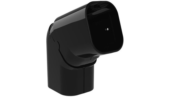 Evolar beweegbare platte bocht 90° - 130°  zwart 72x64mm