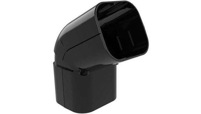 Evolar beweegbare buitenbocht 90° - 130°  zwart 72x64mm