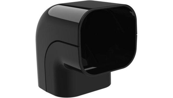 Evolar buitenbocht 90° zwart 72x64mm