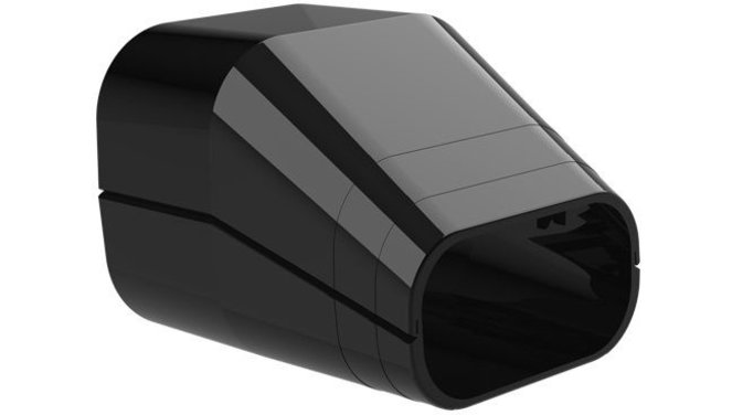 Evolar EVO-TS72BLACK Eindsok - Zwart - 72 x 64 MM