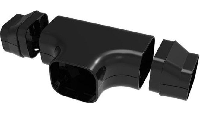 Evolar t-stuk zwart 72x64mm