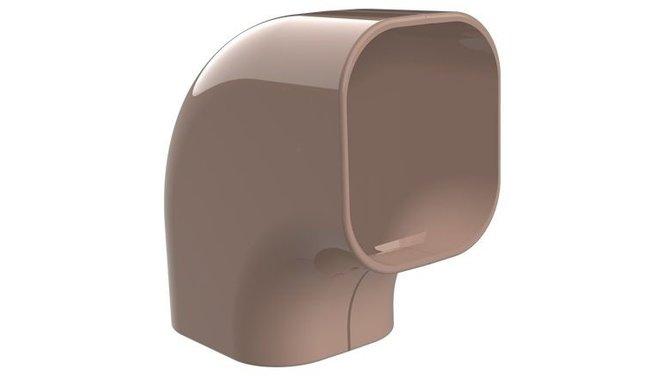 Evolar platte bocht 90° bruin 72x64mm