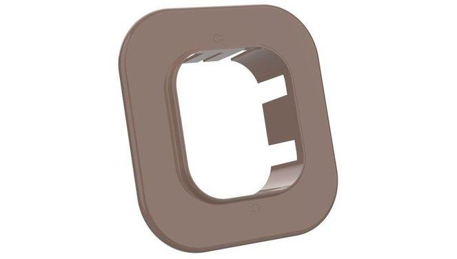 Evolar EVO-RM72BROWN Muurflens - Bruin - 72 x 64 MM