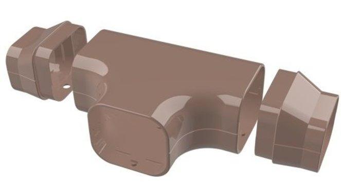 Evolar t-stuk bruin 72x64mm