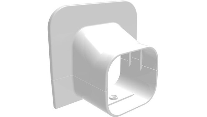 Evolar EVO-TA72WHITE eindstuk plafond/wand wit72x64mm