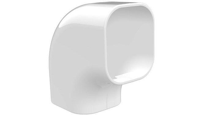 Evolar Platte Bocht - 90° - Wit - 72 x 64 MM