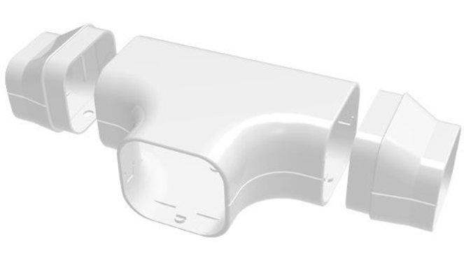 Evolar EVO-DT72WHITE t-stuk wit 72x64mm