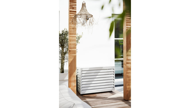 Evolar Evo-cover large wit airco buitenunit omkasting 1100 X 1200 X 650 MM