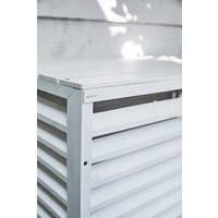 Evolar Evo-cover Wood medium wit airco buitenunit omkasting 800 X 1100 X 550 MM