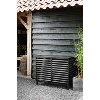Evolar Evo-cover Airco Buitenunit Omkasting - Zwart - Wood - Small 700 x 1000 x 500 MM