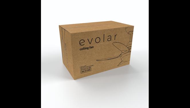 Evolar EVO-CF30MW - Plafondventilator - Dimbare LED-verlichting - Mat Wit