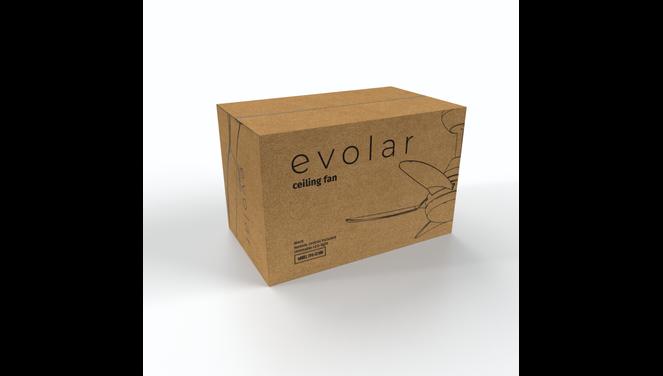 Evolar EVO-CF30B - Plafondventilator - Dimbare LED-verlichting - Zwart