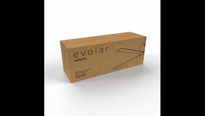 Evolar EVO-CF52BWD - Plafondventilator - Dimbare LED-verlichting - Hout/Zwart