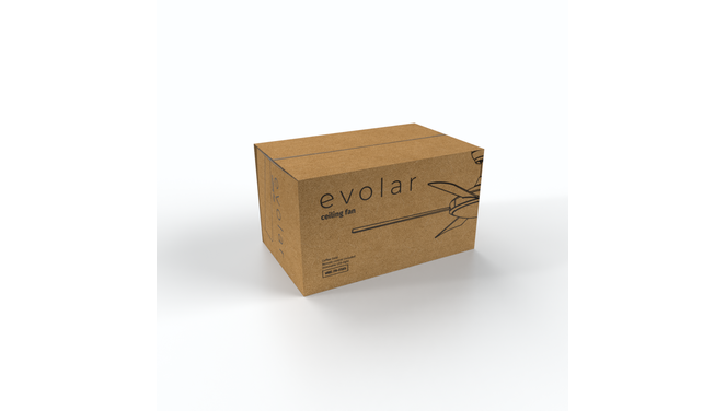 Evolar EVO-CF52CG - Plafondventilator - Dimbare LED-verlichting - Koffie Bruin