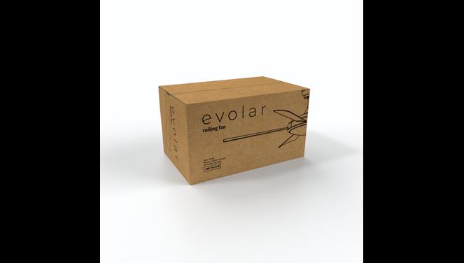 Evolar EVO-CF52SN - Plafondventilator - Dimbare LED-verlichting - Nikkel Grijs