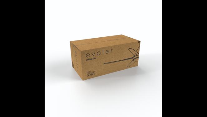 Evolar EVO-CF52MB12 - Plafondventilator - Dimbare LED-verlichting - Mat Zwart