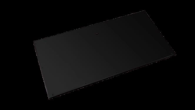 Evolar Bottom Panel voor Airco Omkasting - Zwart - Uitbreiding Tower 650 x 1200 MM