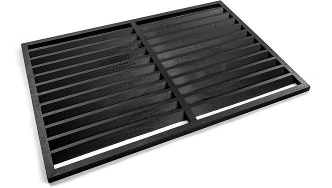 Evolar Backcover voor Airco Omkasting - Zwart - Wood - Uitbreiding XS 600 x 900 MM